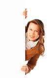 jeunes attrayants de femme de verticale d'affaires Photo stock