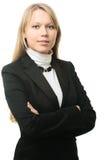 jeunes attrayants de femme de verticale d'affaires photos libres de droits