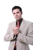 jeunes attrayants de verticale d'homme d'affaires image stock