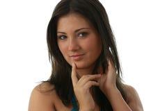 jeunes avec du charme de verticale de beau brunette Photo libre de droits