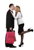Jeunes baisers de couples Photo stock