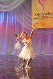 Jeunes ballerines sur l'étape Photo libre de droits