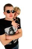Jeunes beaux couples Images libres de droits