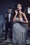 Jeunes beaux couples Photos libres de droits