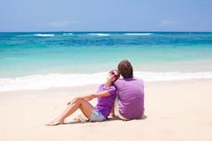 Jeunes beaux couples sur Bali tropical Photo stock