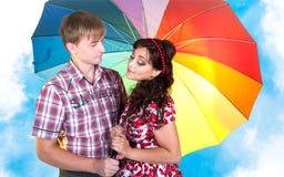 Jeunes beaux homme et femme de couples Image stock