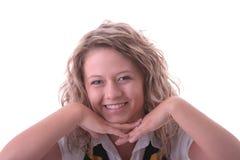 jeunes blonds d'étudiante photographie stock