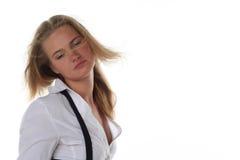 jeunes blonds de femme de verticale Photos libres de droits