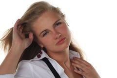 jeunes blonds de femme de verticale Image stock