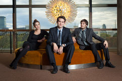 Jeunes cadres d'entreprise photo libre de droits