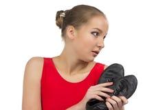 Jeunes chaussures de ballerine et de ballet Photographie stock libre de droits