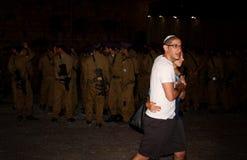 Jeunes couples à Jérusalem, Israël Photos libres de droits