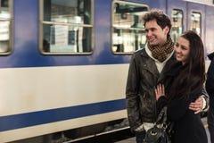 Partir de couples Images libres de droits