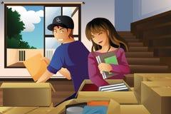 Jeunes couples éclatant des cadres Images stock
