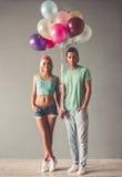 Jeunes couples élégants Photo libre de droits
