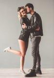 Jeunes couples élégants Photographie stock libre de droits