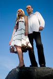 Jeunes couples. Images stock