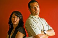 Jeunes couples adultes fous Photos libres de droits