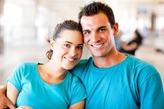 Jeunes couples affectueux Photographie stock