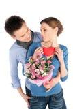 Jeunes couples affectueux dans l'amour Photo libre de droits