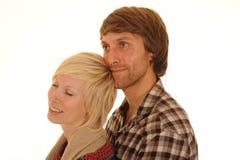 Jeunes couples affectueux heureux Photographie stock