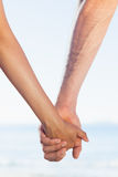 Jeunes couples affectueux saisissant des mains Photos stock