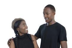 Jeunes couples africains Photographie stock libre de droits