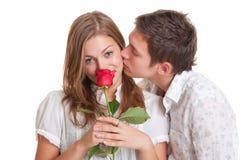 Jeunes couples animés Photos libres de droits