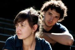Jeunes couples après querelle Photographie stock