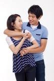 Jeunes couples asiatiques heureux Photo libre de droits