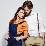 Jeunes couples attrayants Images libres de droits