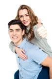 Jeunes couples attrayants ayant l'amusement Image libre de droits