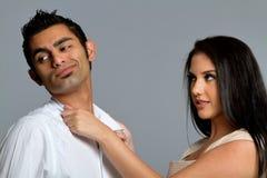 Jeunes couples ayant des problèmes Photographie stock
