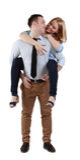 Jeunes couples ayant l'amusement Photos stock