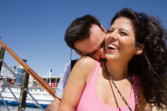 Jeunes couples ayant l'amusement Photo libre de droits