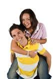 Jeunes couples ayant l'amusement Photographie stock libre de droits