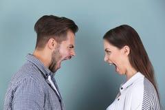 Jeunes couples ayant l'argument photo stock