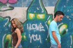 Jeunes couples beaux Images stock