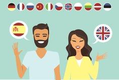 Jeunes couples bilingues illustration libre de droits