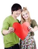 Jeunes couples caucasiens asiatiques heureux Photos stock