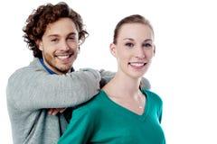Jeunes couples caucasiens avec du charme Photographie stock