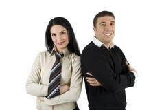 Jeunes couples d'affaires Images libres de droits