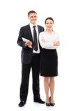 Jeunes couples d'affaires sur les vêtements formels Image stock