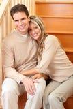Jeunes couples d'amour Photo libre de droits