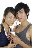 Jeunes couples d'amour Images stock