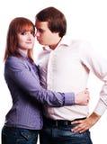 Jeunes couples d'amour de beauté Photos libres de droits