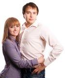 Jeunes couples d'amour de beauté Photos stock