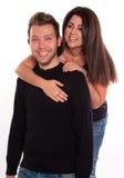 Jeunes couples d'amusement Photographie stock