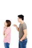 Jeunes couples dans un argument photo libre de droits