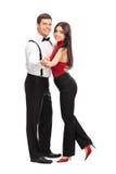 Jeunes couples dansant les uns avec les autres Photo libre de droits